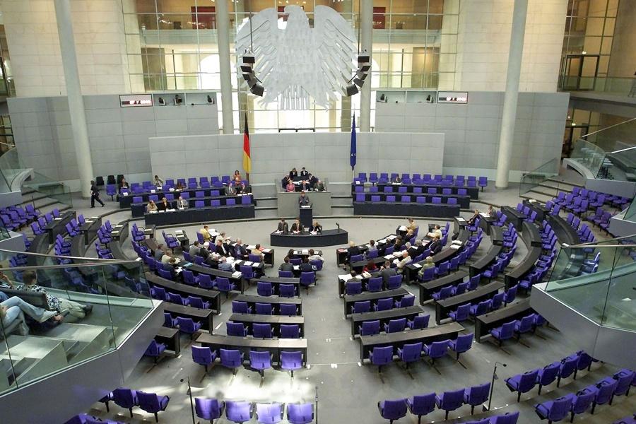Übersicht vom Plenum des Deutschen Bundestags (© AP)